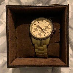 Tan Michael Kors authentic watch
